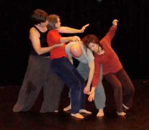 Contact Improv Dancers in Action